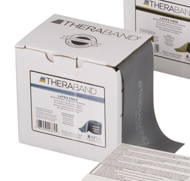 Thera-Band - Oefenband Theraband, latexvrij, 22m zilver